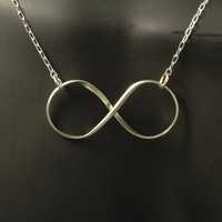 Infinity Silver Necklace / Sterling Silver Infinity by MetalRocks