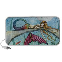 Down by the Pond Mermaid Doodle Speaker from Zazzle.com