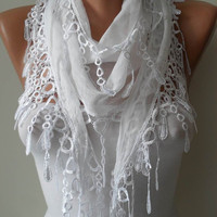 White Scarf  by SwedishShop