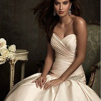 Buy discount Elegant Exquisite Satin Mermaid Sweetheart Wedding Dress at dressilyme.com