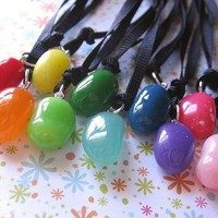 Real Jelly Bean Necklace Preserved And Encased - Pick Your Favorite Flavor | Luulla