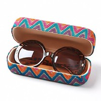 Retro Chic Round Sunglasses with Matching Sunglass Case