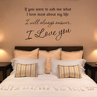 'if you were to ask me' wall quote lettering by aijographics | notonthehighstreet.com