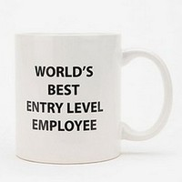 UrbanOutfitters.com > World's Best Entry Level Employee Mug