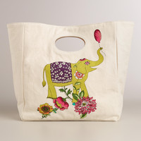 Elephant Fluf Organic Cotton Lunch Bag - World Market