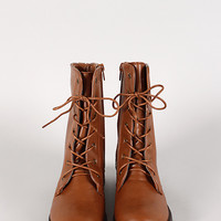 Bamboo Jagger-09A Military Lace Up Boot