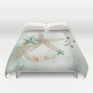 Summer Sea Treasures Beach  Duvet Cover by DMiller