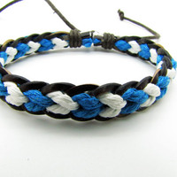 Soft Leather and cotton ropes Woven Women's by braceletcool