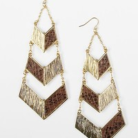 BKE Animal Print Tier Earring