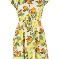 White lemon print dress - Dresses - New In - Dorothy Perkins