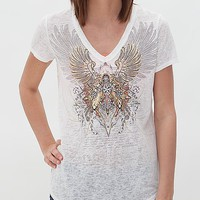 Angels & Diamonds Pieced V-Neck Top