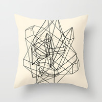 Crystals Throw Pillow by Anderbear