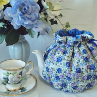 Teapot cozy 6 to 8 cup Royal Albert Moonlight Roses by MBKreations
