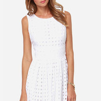 Jack by BB Dakota Macall White Lace Dress