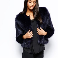 Michelle Keegan Loves Lipsy Faux Fur Coat