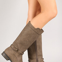 Qupid Turner-11 Perforated Riding Boot