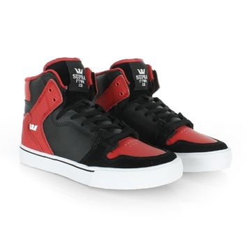 Baskets Supra Kids Vaider Black Red White - LaBoutiqueOfficielle.com