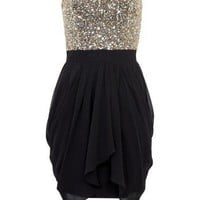 Lipsy V I P Sequin Bust Dress - Lipsy