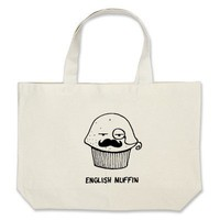 english muffin.png tote bag from Zazzle.com