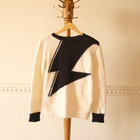 piiqshop - Market Place - Graphic Jumper in White&Black: Orco. Handmade, New Collection 2012