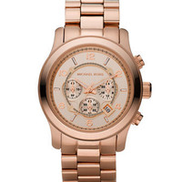 Michael Kors Michael KorsRose Golden Oversized Chronograph Watch - Michael Kors