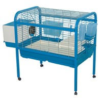 Marchioro Luna 82 Cage for Small Animals with Wheels, 32.25 inches, Blue