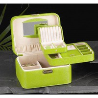 Bey-Berk Jewelry / Watch Case in Lime Leather - BB534LIM - Jewelry Boxes - Decorative Accents - Decor