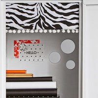Black Zebra Dottie Pom Pom Locker Curtains