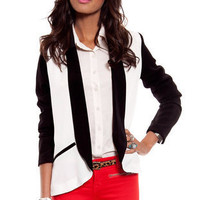 Oreo Blazer in White and Black :: tobi