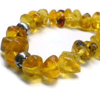 Dominican Amber bracelet unisex jewelry by DOMINICANLOUNGE on Etsy