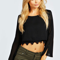 Sheree Double Layer Crochet Crop Top
