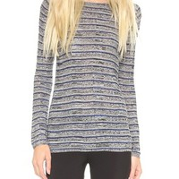 M. PATMOS Ribbed Layering Crew Neck Top