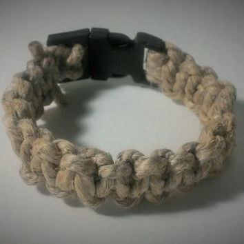 Handmade Hemp Bracelet with Buckle, Hemp Wristband