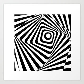 Zebra Op Art Print Promoters