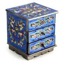 Novica Jewelry Box in Celestial Blue - 123694 - Jewelry Boxes - Decorative Accents - Decor