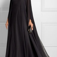 Valentino - Draped silk-chiffon gown