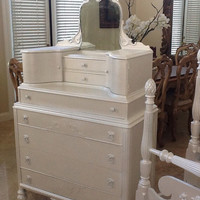 Antique Victorian Chest on Chest / Dresser