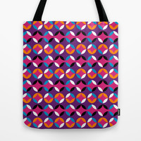 Retro Circle Tote Bag by Ashley