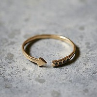 Odette Womens Diamond Arrow Band Ring - Gold,