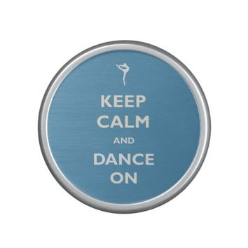 Keep Calm Dance On Blue Bluetooth Speaker