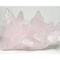 Mangan Calcite Pastel Pink Crystal Spray Mineral Specimen from Colorado Vintage Specimen