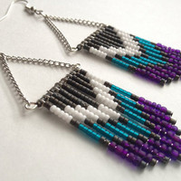 70's Inspired Purple and Teal Chevron by OliveTreeHandmade on Etsy