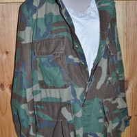 Vintage Military Camo Shirt Coat Army Camo by founditinatlanta