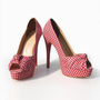 Christian Louboutin Red plaid Pumps Red [SCL6182r] - &amp;#36;86.99 : Focus Shoes, Discount Shoes, Jimmy Choo Shoes