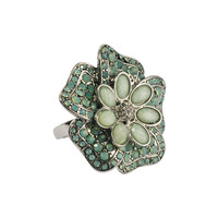 Rhinestoned Flower Ring | FOREVER21 - 1000049070
