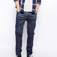Weekday | Weekday Jeans Friday Skinny Fit Blue Grain at ASOS