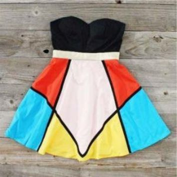 Mediterranean colorblock Dress