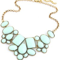 Oval Deco Bib Necklace