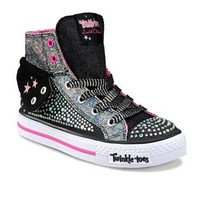 Skechers Twinkle Toes Shuffles Rock N' Beauty Light-Up High-Top Sneakers - Girls