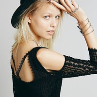 Free People Womens Off Limits Lace Shift - Black,